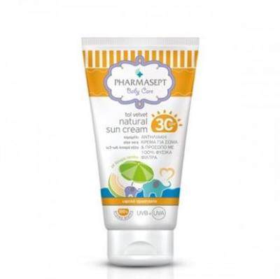 Pharmasept Tol Velvet Natural Sun Cream spf 30 Αντηλιακή Κρέμα 100ml