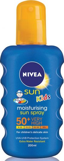Nivea Sun Kids Moisturising Sun Spray SPF50 200ml
