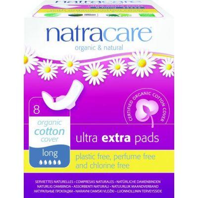 Natracare Σερβιέτες Ultra Με Φτερά Για Πολύ Μεγάλη Ροή 8τμχ