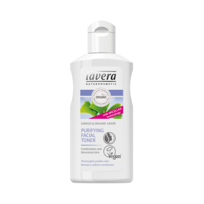 Lavera Facial Care Λοσιόν Καθαρισμού Προσώπου Με Ginkgo & Βιολογικό Σταφύλι 125ml