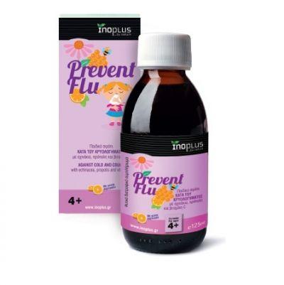 Inoplus Prevent Flu Παιδικό Σιρόπι κατά του Κρυολογήματος και του Βήχα 125ml
