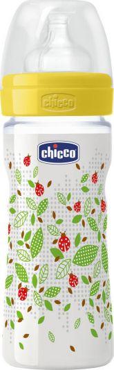 Chicco Well Being Πλαστικό Mπιμπερό Θηλή Σιλικόνης 250ml