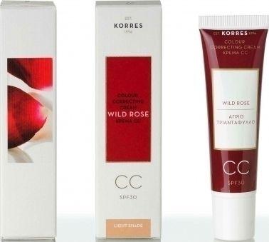 Korres Άγριο Τριαντάφυλλο Colour Correcting Cream SPF30 Light 30ml