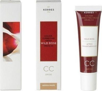 Korres Άγριο Τριαντάφυλλο Colour Correcting Cream SPF30 Medium 30ml