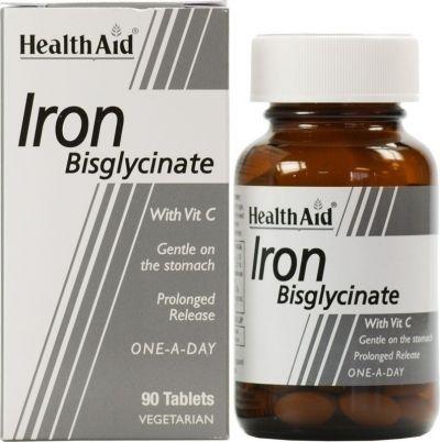 Health Aid Iron Bisglycinate 30mg 90 φυτικές κάψουλες