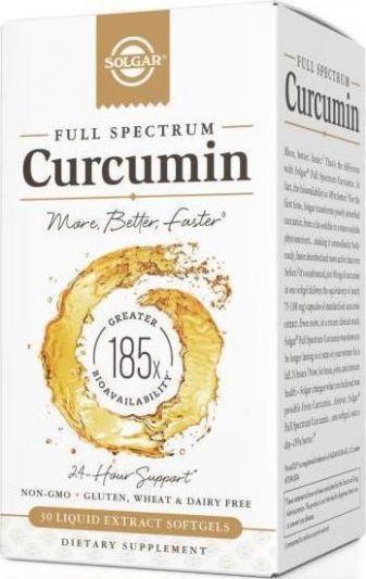 Solgar Curcumin Full Spextrum 30 Μαλακές Κάψουλες