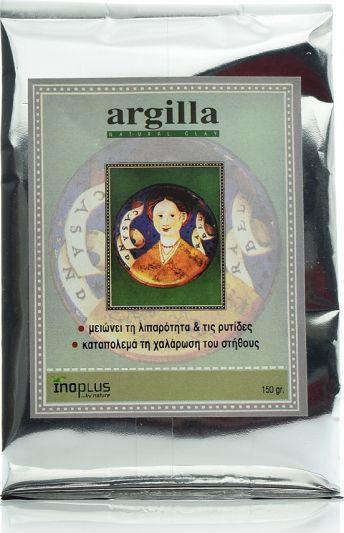 Inoplus Argilla Άργιλος Σκόνη Για Λιπαρότητα-Ρυτίδες & Χαλάρωση Στήθους 150gr