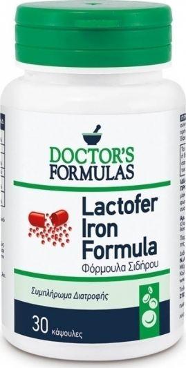 Doctor's Formulas Lactofer Iron Formula 30 Κάψουλες
