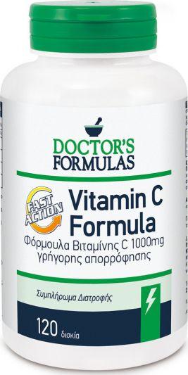 Doctor's Formula Vit C Formula Fast Action 120 Δισκία