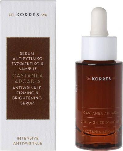 Korres Αντιρυτιδικό & Συσφιγκτικό Serum Λάμψης Αρκαδική Καστανιά 30ml
