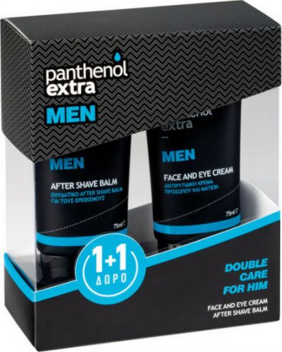 Medisei Panthenol Extra Double Care For Him After Shave Balm 75ml + Face & Eye Cream 75ml