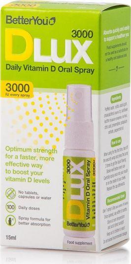 BetterYou DLux 3000iu Daily Vitamin D 15ml
