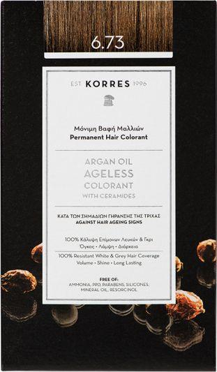 Korres Argan oil Ageless Colorant Νο 6.73 Χρυσό Κακάο 1τμχ