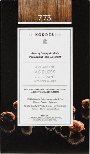 Korres Argan oil Ageless Colorant Νο 7.73 Χρυσή Μόκα 1τμχ