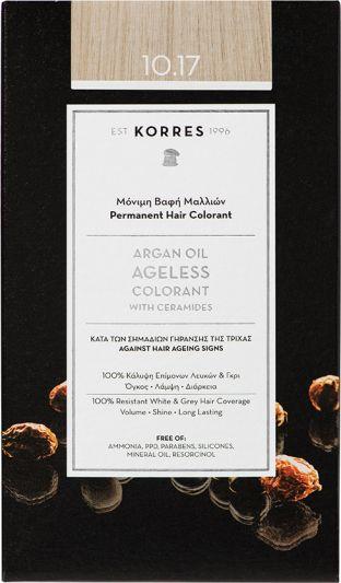 Korres Argan oil Ageless Colorant Νο 10.17 Ξανθό Πλατίνας Μπεζ 1τμχ