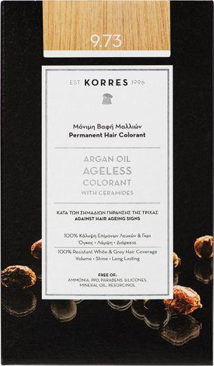 Korres Argan oil Ageless Colorant Νο 9.73 Χρυσό Κάστανο 1τμχ
