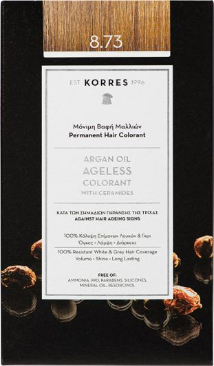 Korres Argan oil Ageless Colorant Νο 8.73 Χρυσή Καραμέλα 1τμχ