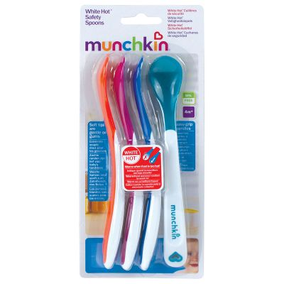 Munchkin White Hot Safety Spoons 3m+ 4τμχ