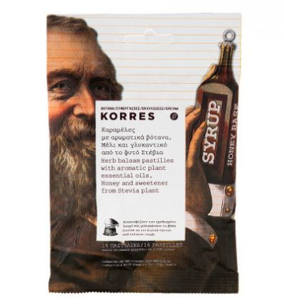 Korres Καραμέλες με Αρωματικά Βότανα, Μέλι Και Γλυκαντικό Stevia 16 Καραμέλες
