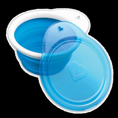 Munchkin Go Bowl Αναδιπλούμενο Μπολ Σιλικόνης 6m+ Μπλε