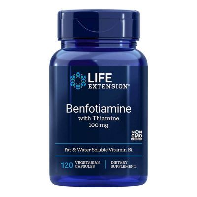 Life Extension Benfotiamine With Thiamine 100mg, 120 Κάψουλες