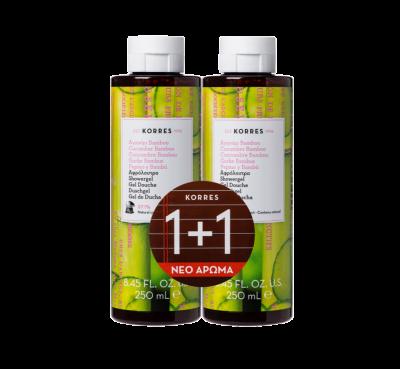 Korres Αφρόλουτρο Αγγούρι & Bamboo 250ml 1+1