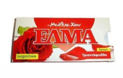 ΕΛΜΑ Μαστίχα Χίου χωρίς ζάχαρη με τριαντάφυλλο 13gr (10pcs)