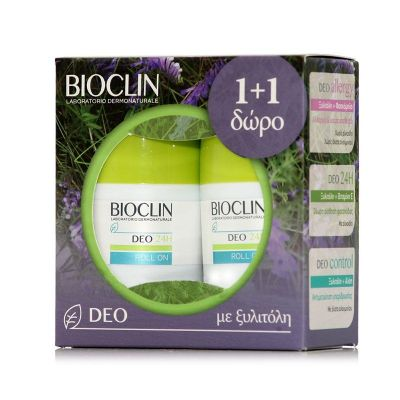 Bioclin Promo Deo 24h Alcohol Free Roll-on Αποσμητικό 1+1 2x50ml