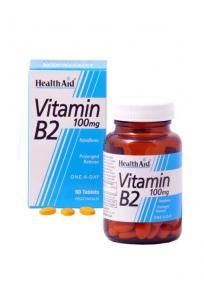Health Aid Vitamin B2 100mg 60 tablets