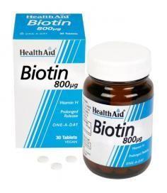 Health Aid Biotin 800μg 30 tabletes