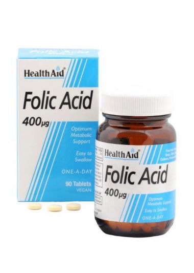 Health Aid Folic Acid 400μg 90 tablets