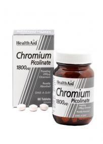 Health Aid Chromium Picolinate 1800μg 60 tabletes