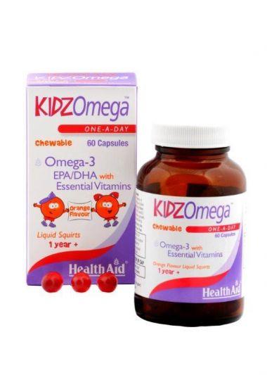 Health Aid KIDZ Omega with Vitamins - Chewable 60caps