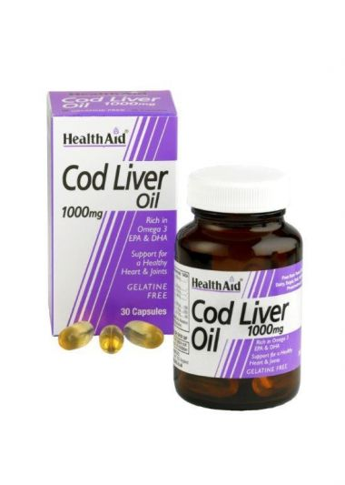 Health Aid Cod Liver Oil Μουρουνέλαιο 1000mg 30 caps