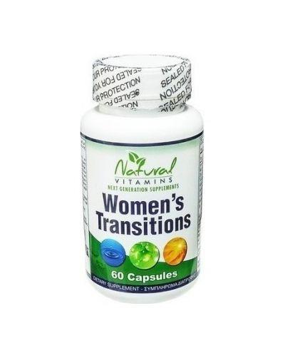 Natural Vitamins Women's Transitions – Φυσική Φόρμουλα Εμμηνόπαυσης 60 Κάψουλες