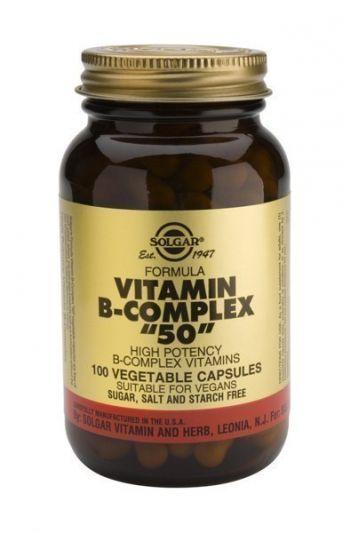 """Solgar Formula B-Complex """"50"""" High Protency 100 Φυτικές Κάψουλες"""