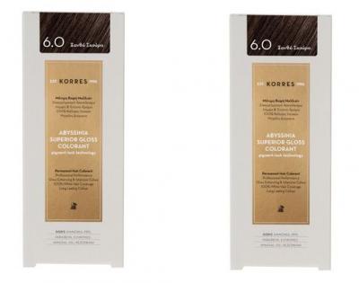 Korres Πακέτο Προσφοράς 1+1 Abyssinia Superior Gloss Colorant Μόνιμη Βαφή Μαλλιών No 6.0 Ξανθό Σκούρο, 2x50ml