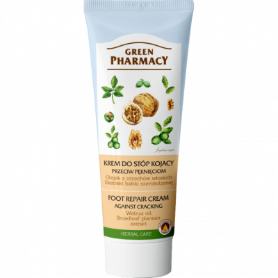 Green Pharmacy Κρέμα Ποδιών για Ξηρά, Σκασμένα και με Ρωγμές Πόδια 75ml