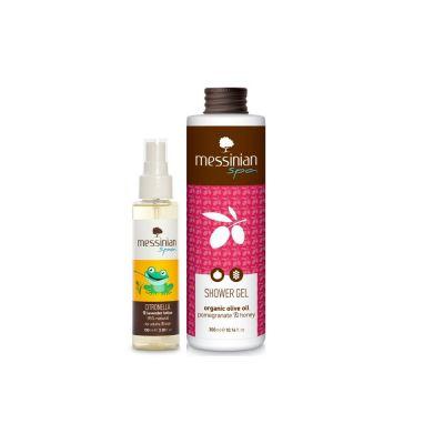 Messinian Spa Σιτρονέλα & Λεβάντα Λοσιόν 100ml + Δώρο Shower Gel Ρόδι & Μέλι 300ml