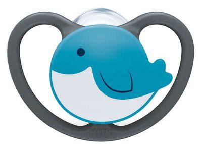 Nuk Space Σιλικόνης Μπλε Δελφίνι 0-6 Μηνών