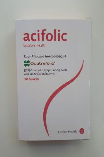 Epsilon Health Acifolic Συμπλήρωμσ Διατροφής με Quatrefolic 30 Δισκία