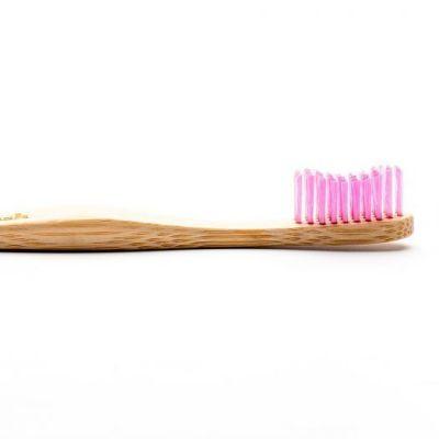 Humble Brush - Οδοντόβουρτσα με λαβή από βιοδιασπώμενο Bamboo - Ροζ Ενηλίκων Soft