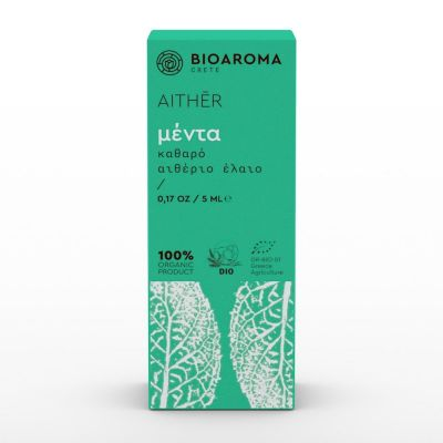 Bio Aroma 100% αγνό Αιθέριο Έλαιο Μέντα 5ml