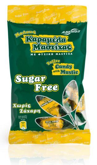Anemos Καραμέλες μαστίχα χωρίς ζάχαρη μαλακές 100g