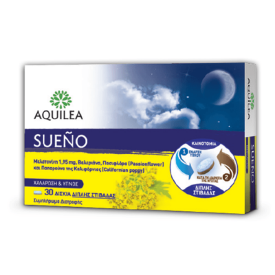 Aquilea Sueno Συμπλήρωμα Διατροφής για Χαλάρωση & Ύπνο 30 δισκία