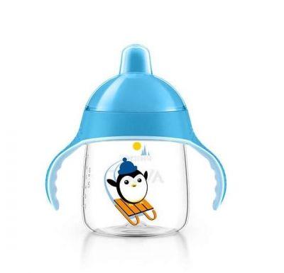 AVENT Κύπελλο με στόμιο και λαβές μπλε 260ml, 12 μηνών+  SCF753/05 1 τεμ.