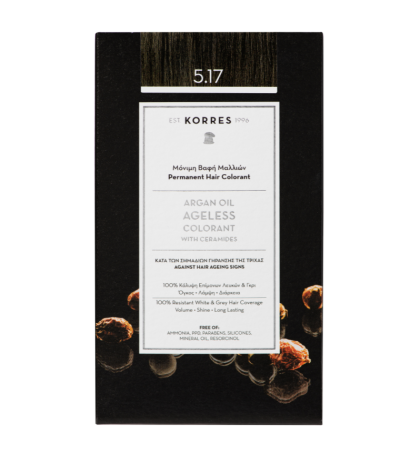 Korres Argan oil Ageless Colorant Νο 5.17 Καστανό Ανοιχτό Μπεζ 1τμχ
