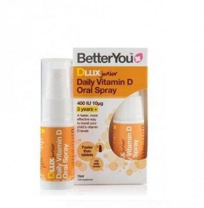 BetterYou DLux Junior Daily Vitamin D 400iu 15ml