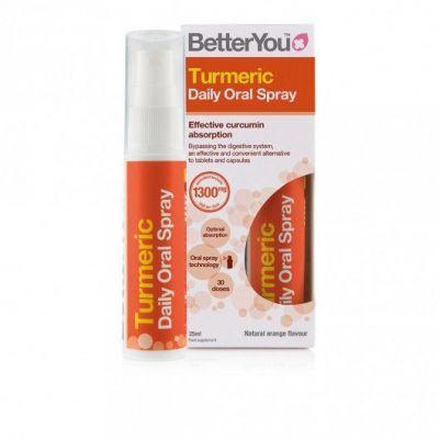 BetterYou Turmeric Daily Oral Spray Συμπλήρωμα Διατροφής με Κουρκουμά, 25ml