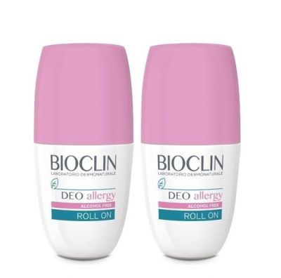 Bioclin Promo Deo Allergy Alcohol Free Roll-on Αποσμητικό 1+1 ΔΩΡΟ 2x50ml